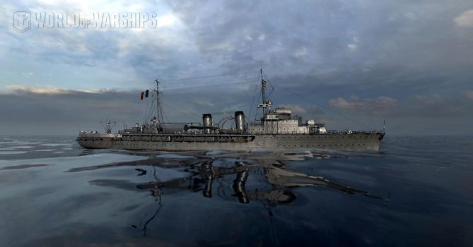 French Coastal Defense Ship Bougainville by Sensthepunmistress