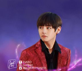 [Digipainting] Happy Taehyung day II by Z1aR0