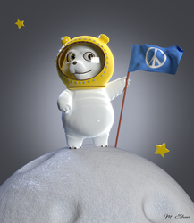 Space Bear for Peace by MaryShan