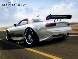 Mazda RX 7 Chrome by BarneyHH