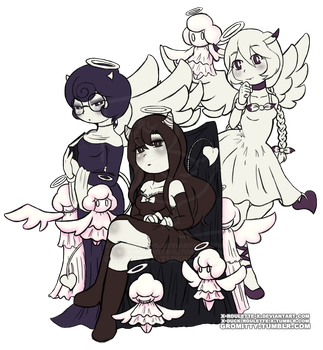 Alice and her Angels by Duck-Roulette