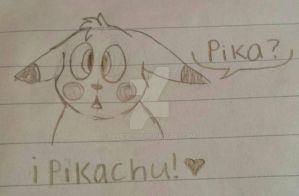 Pikachu Sketch by FruitScoot