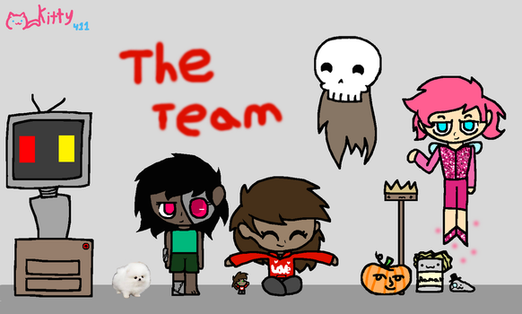 My team of weirdo's (redesign) by Kittythecat411