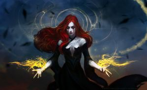 Red tears of the black witch by anndr