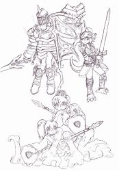 Monstergirls of Demon's Souls: The Knights by Cerberus123