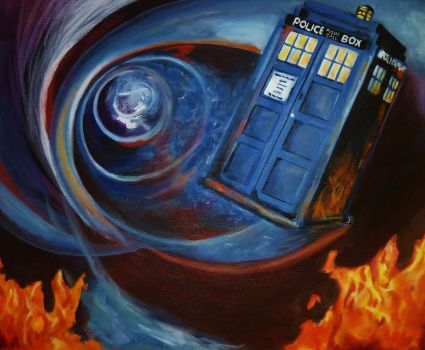TARDIS in the Vortex by AesopsJulie