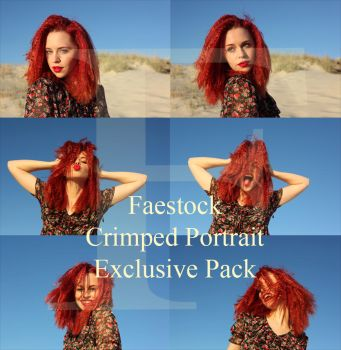 Crimped Portrait Exclusive Pack by faestock