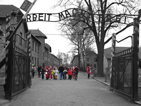 innocence n cruelty -auschwitz by Mich-in-the-sky