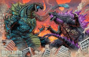 Shin Jirass vs Legendary Gomess by KaijuSamurai