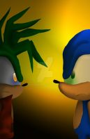 Manic and Sonic (15 years later...) by Manic-Pest