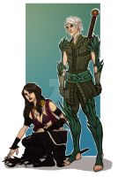 Commission: Fenris and Morrigan by Enife