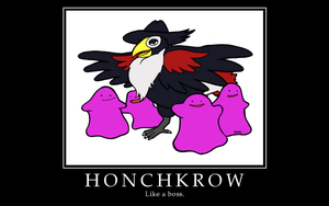 Honchkrow Motivational Poster by Probable-Futures
