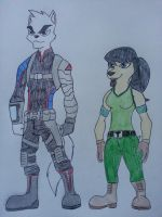 Kenny and Dee Dee Puppy-Katswell by Zigwolf