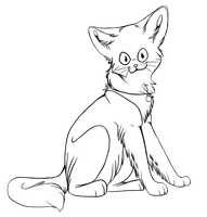 .. Kitty Lineart .. by DoomTaco