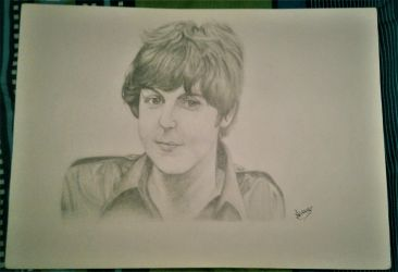 Paul McCartney Traditional Style Fanart by AraxyLennon-iplier
