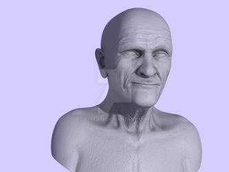 Old Man Model - Texture and Normal Mapping Pass by BREED72