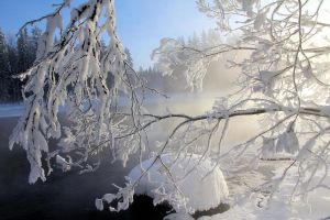 cold winter's day on the river by KariLiimatainen