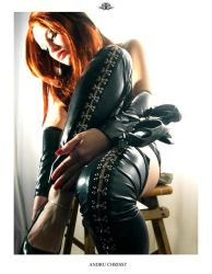 The Redhead in PVC sitting 1 by auxcentral