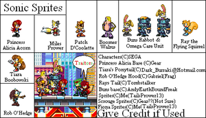 Sonic Character sprites by TailsPrower13