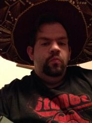 Me wearing my  new sombrero by motorhea