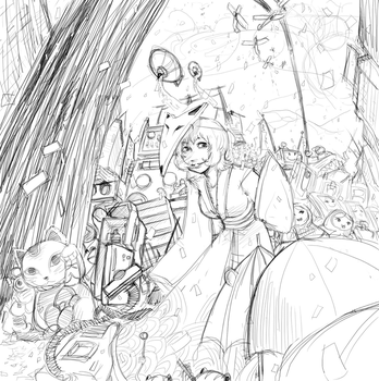 Paprika fanart sketch by Izuma