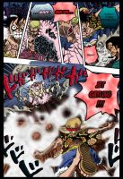 OP 745- Luffy confronts Doflamingo part 1 by Theahj90