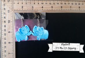 Elephant Earrings by TheTrueGypsyQueen