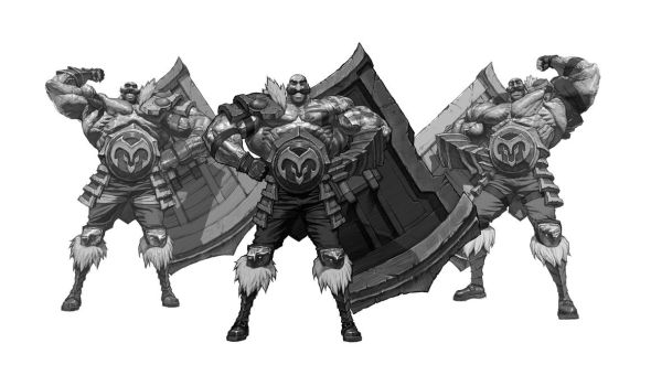 League of Legends Braum concept/Study by kse332