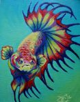 Rainbow Crowntail I by greyviolett