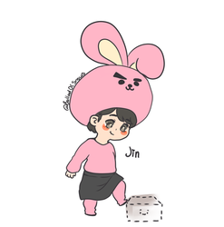 BTS Festa 2018 GIFT ARTS 1 - JIN as cooky by XHolyKnightAgrias