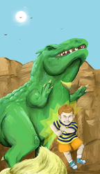 Mother 3: Play Fighting! by Saira-Dragon