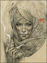 Sand witch by DalfaArt
