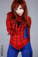 MJ in spidey suit! by Kitty-Honey
