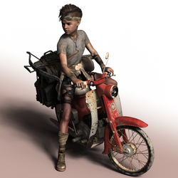 Moped Char by carl00franz