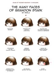 The many faces of Bran Stark - Season 1-3 spoilers by Sirilu