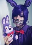 Twisted Bonnie Makeup by HazyCosplayer