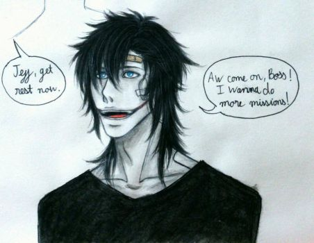Creepypasta: Jeff loves killing by Smokertongas-arts
