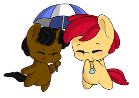 Strider and Toppy - Oh Baby, it's raining.. ~ by Topas-Art