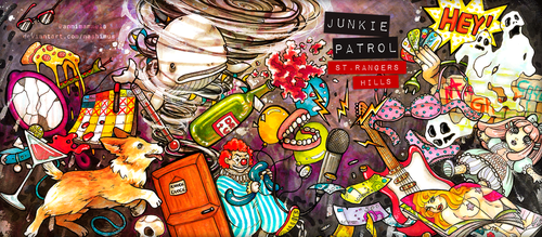 Junkie Patrol - St. Rangers Hills EP cover by Nashimus