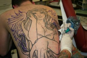 angel backpiece by tattooneos
