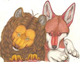 Hodarin and Canis. color by Canisabscedo