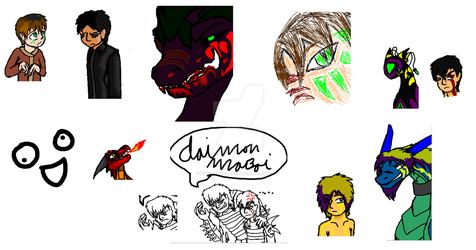 A few iScribble doodles by poisondragon88