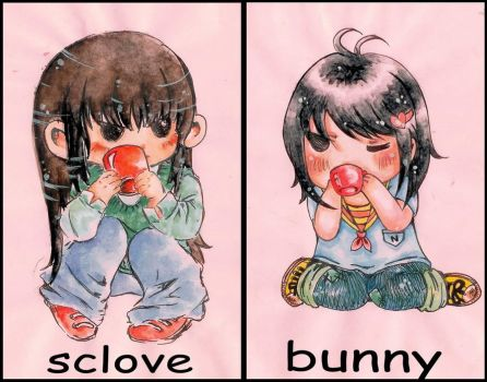 Sclove and Bunnie by lovelymoon1993