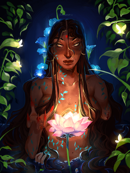 river spirit symmetra + speedpaint [aug 17] by rosheruuu
