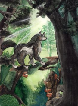 Wolf-Link in the Woods by WaldelfLarian