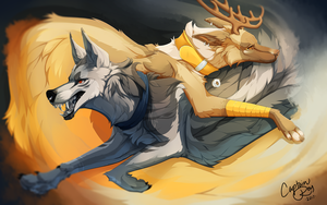 C Tahoe and Castiel by CaptainRey