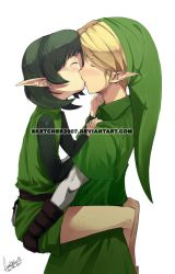 Link and Saria Romance by faustsketcher