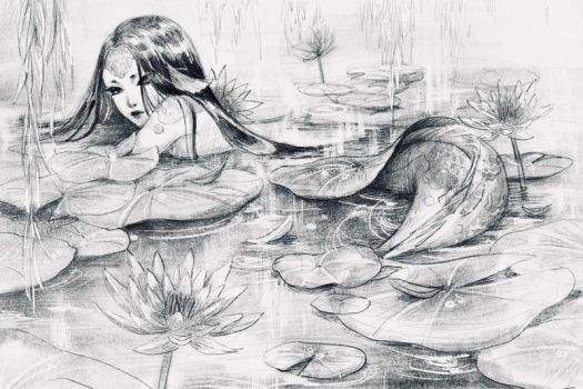 Koi and lilies by AutumnGoose