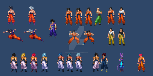 Various Sprites pt.5 (extreme butoden) by DivineSprites