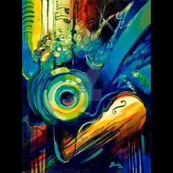 colorful music by penaart